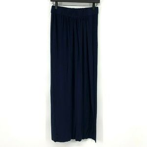 Cabi 358 Maritime Maxi Skirt Blue Stretch Pull On